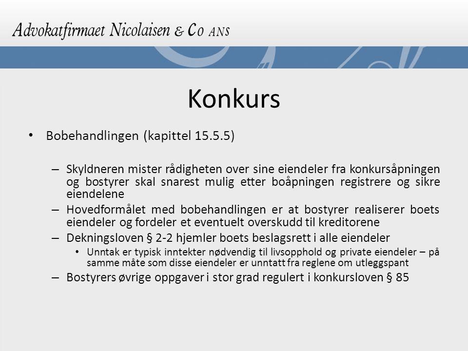 Konkurs Bobehandlingen (kapittel 15.5.5)