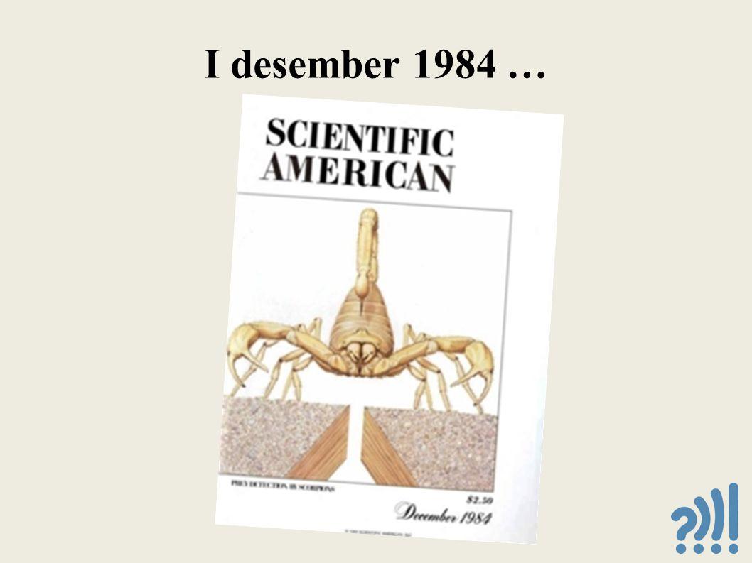 I desember 1984 …