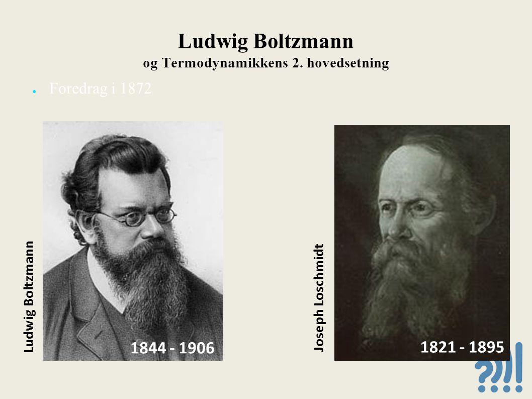 Ludwig Boltzmann og Termodynamikkens 2. hovedsetning