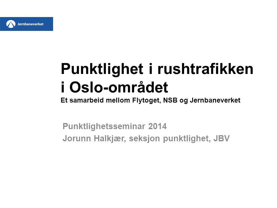 Punktlighetsseminar 2014 Jorunn Halkjær, seksjon punktlighet, JBV