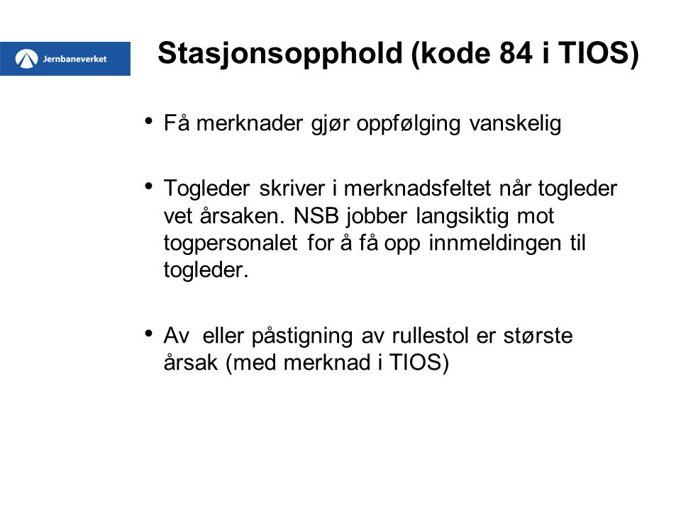 Stasjonsopphold (kode 84 i TIOS)