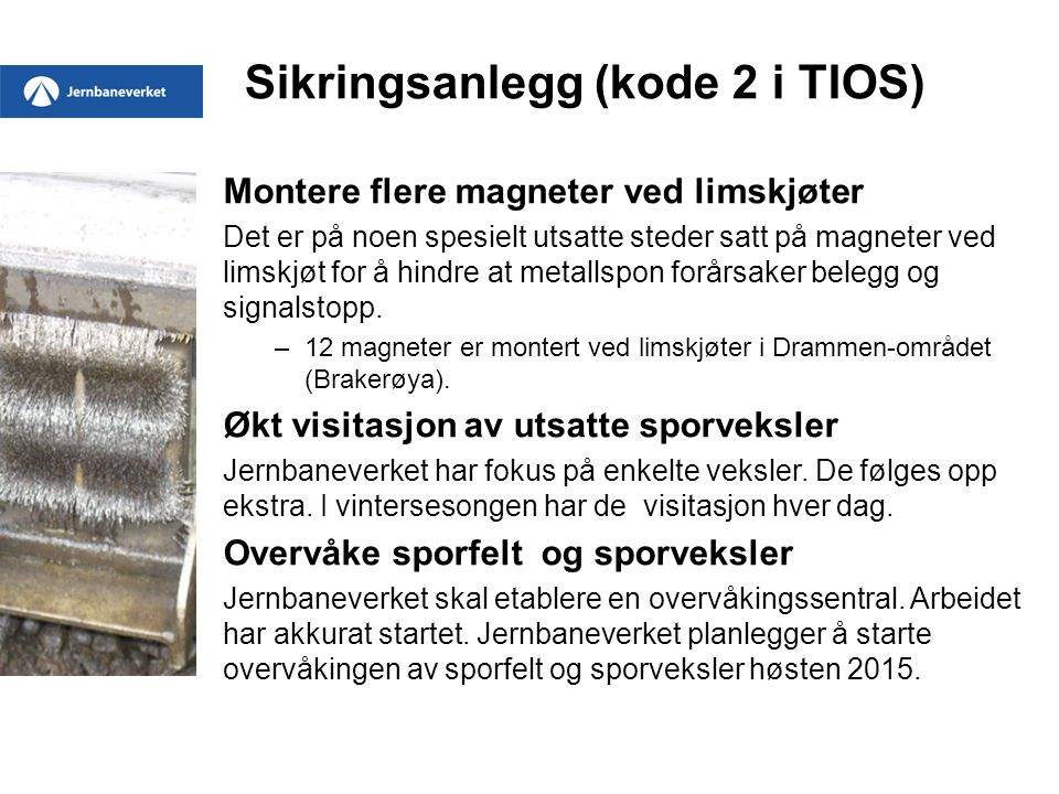 Sikringsanlegg (kode 2 i TIOS)