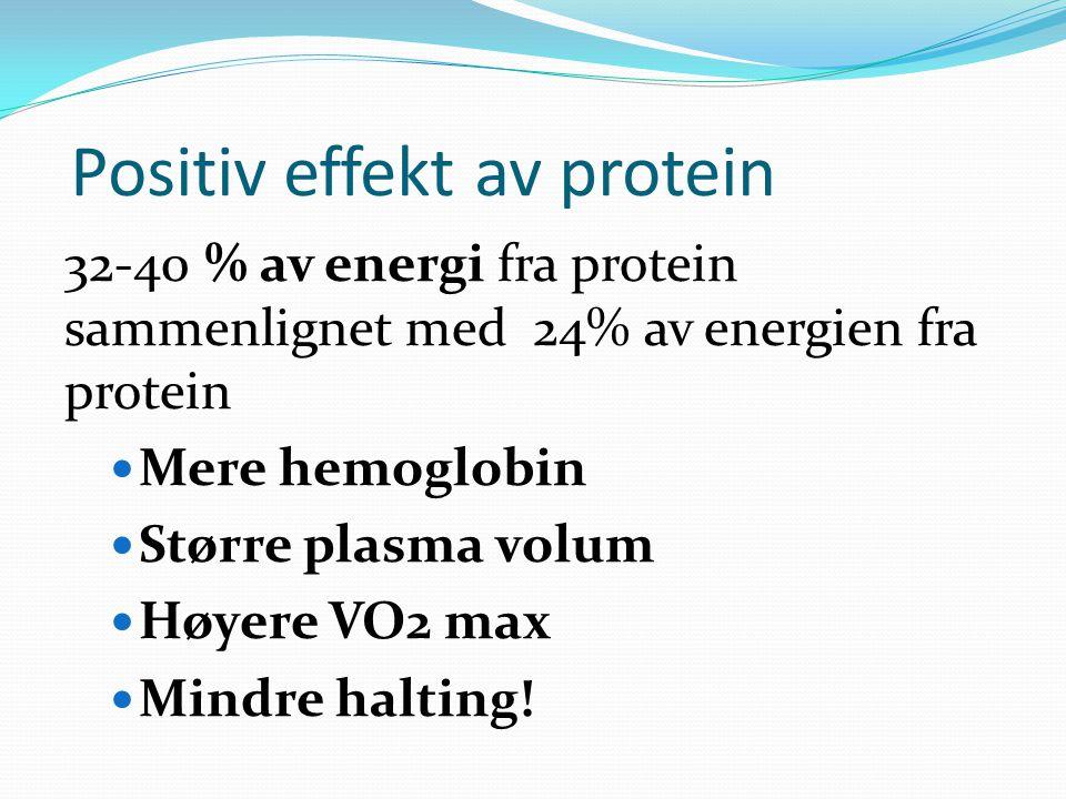 Positiv effekt av protein