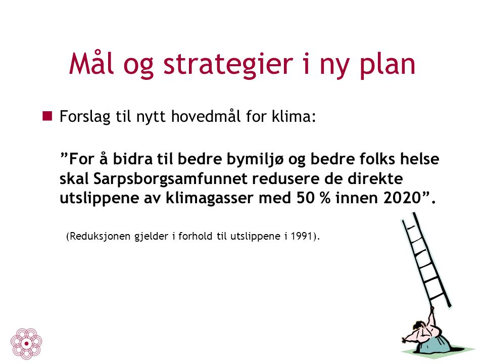 Mål og strategier i ny plan