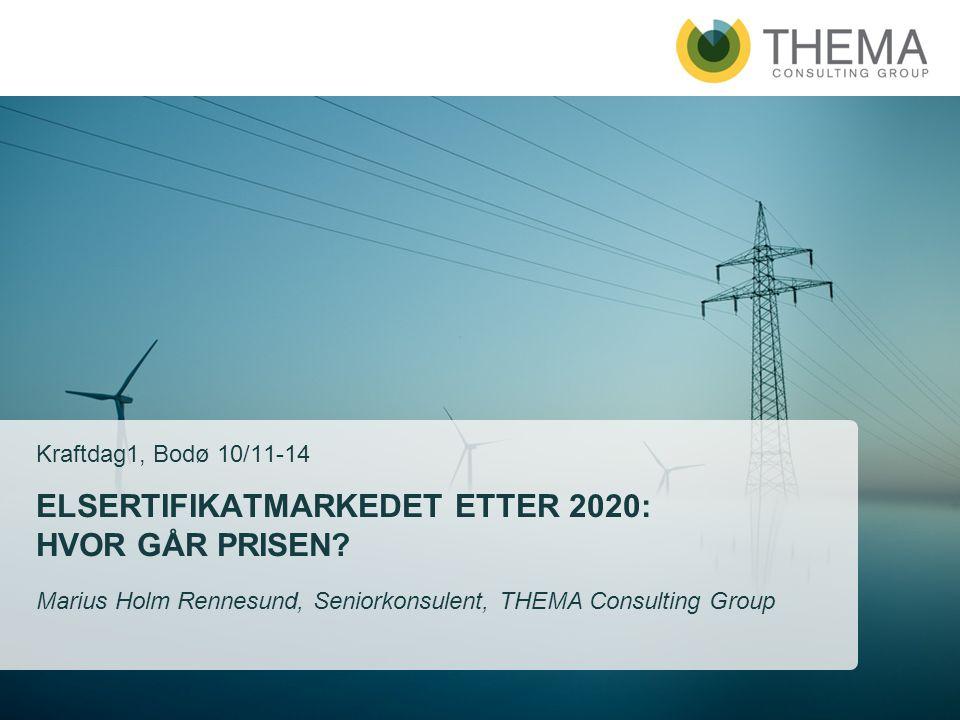 Elsertifikatmarkedet etter 2020: Hvor går prisen