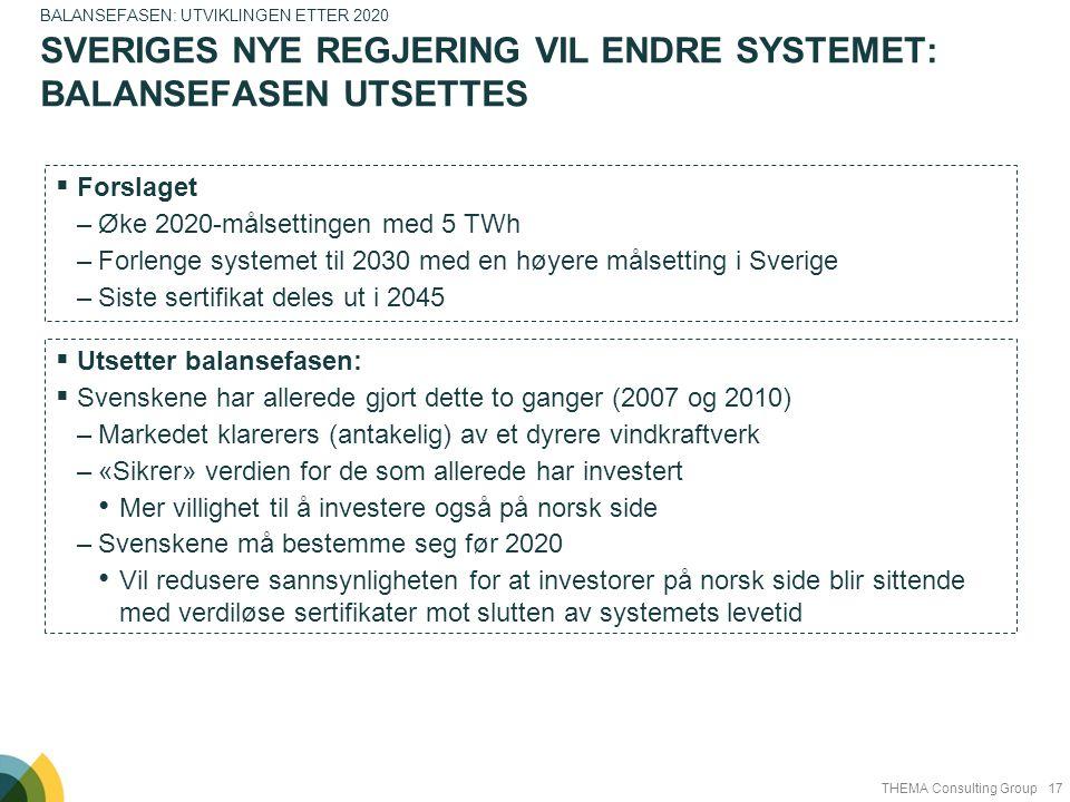 Sveriges nye regjering vil endre systemet: Balansefasen utsettes