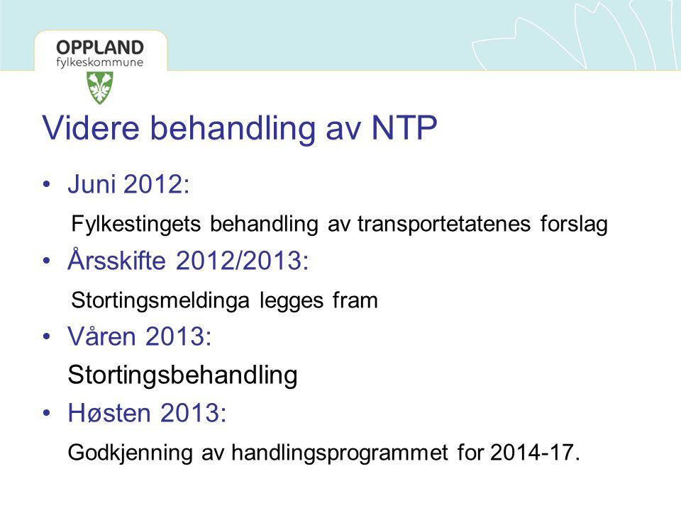 Videre behandling av NTP