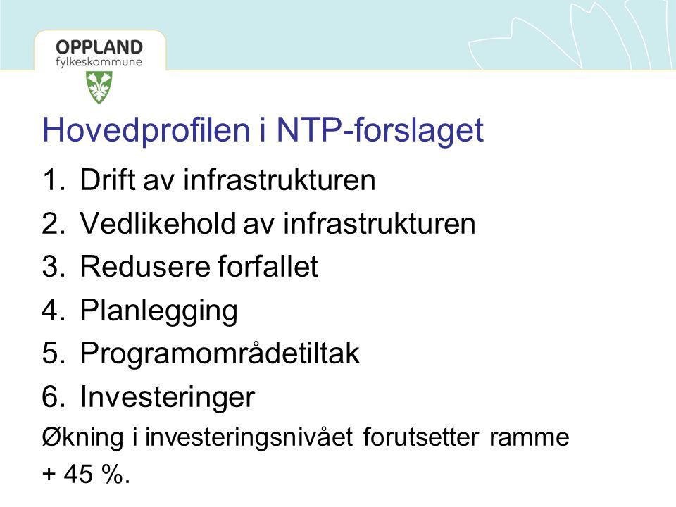 Hovedprofilen i NTP-forslaget