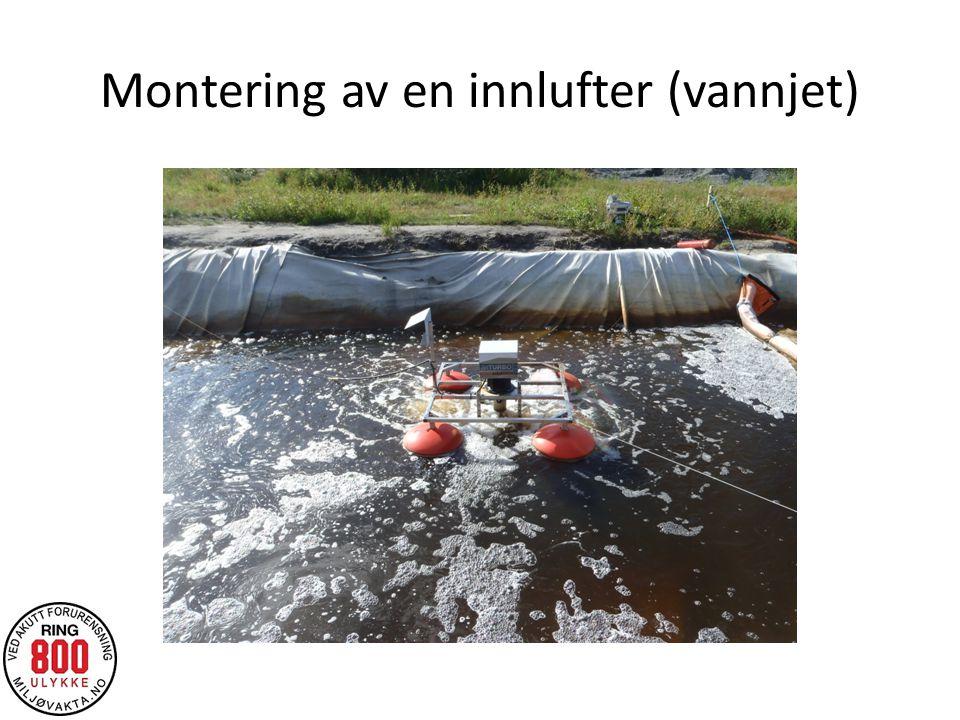 Montering av en innlufter (vannjet)