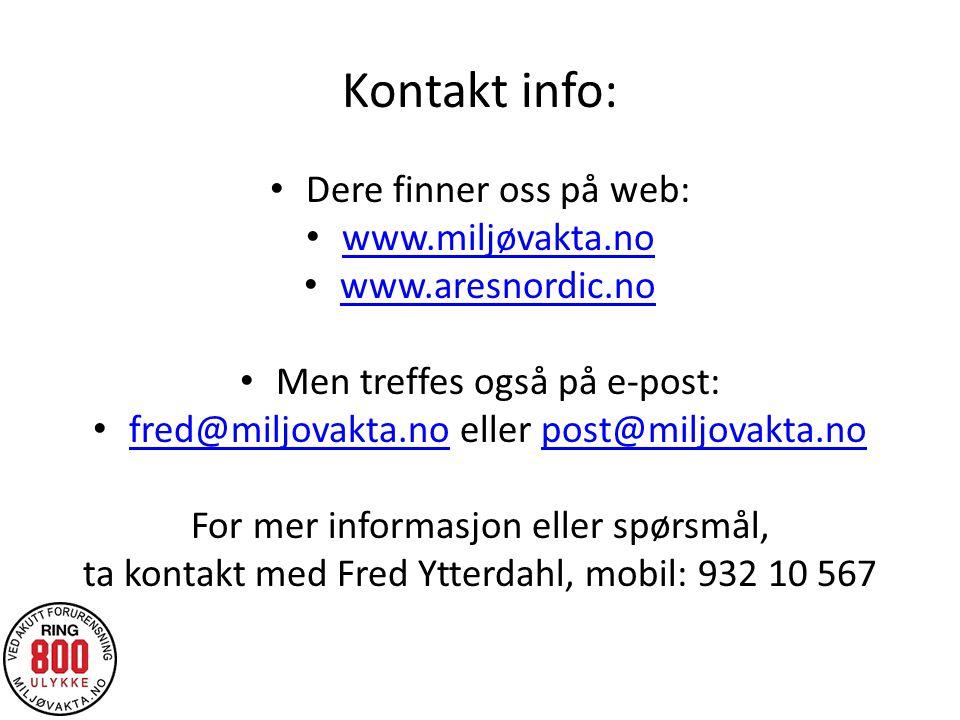 Kontakt info: Dere finner oss på web: