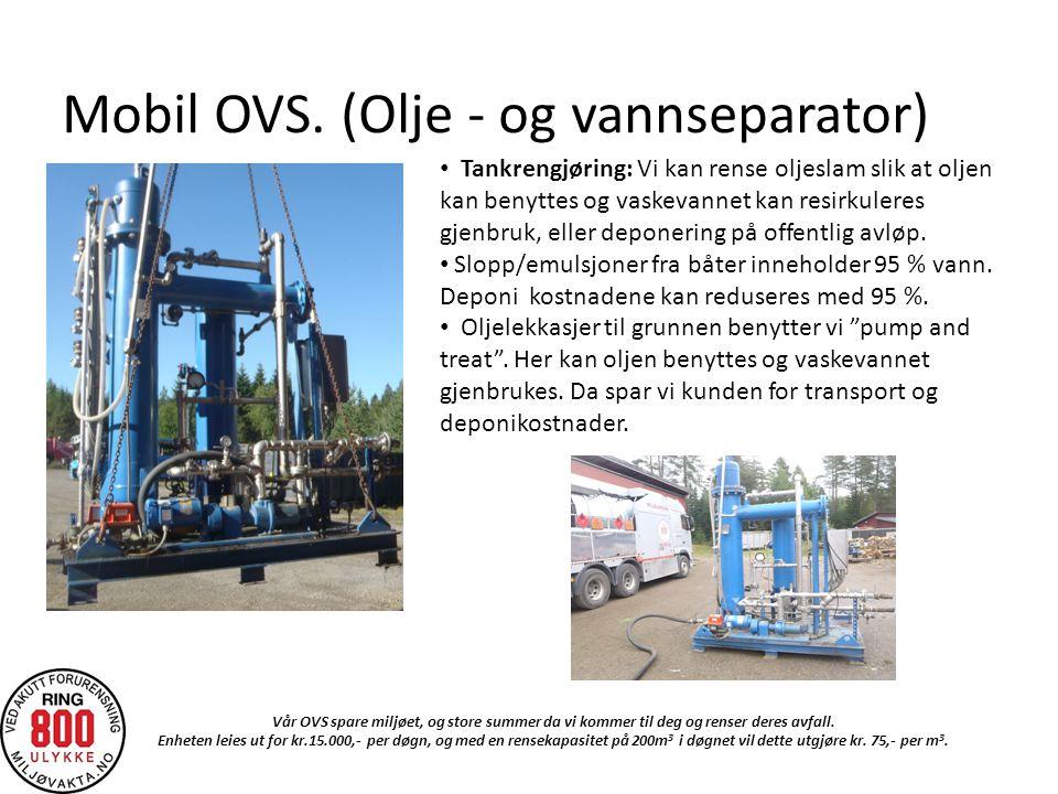 Mobil OVS. (Olje - og vannseparator)