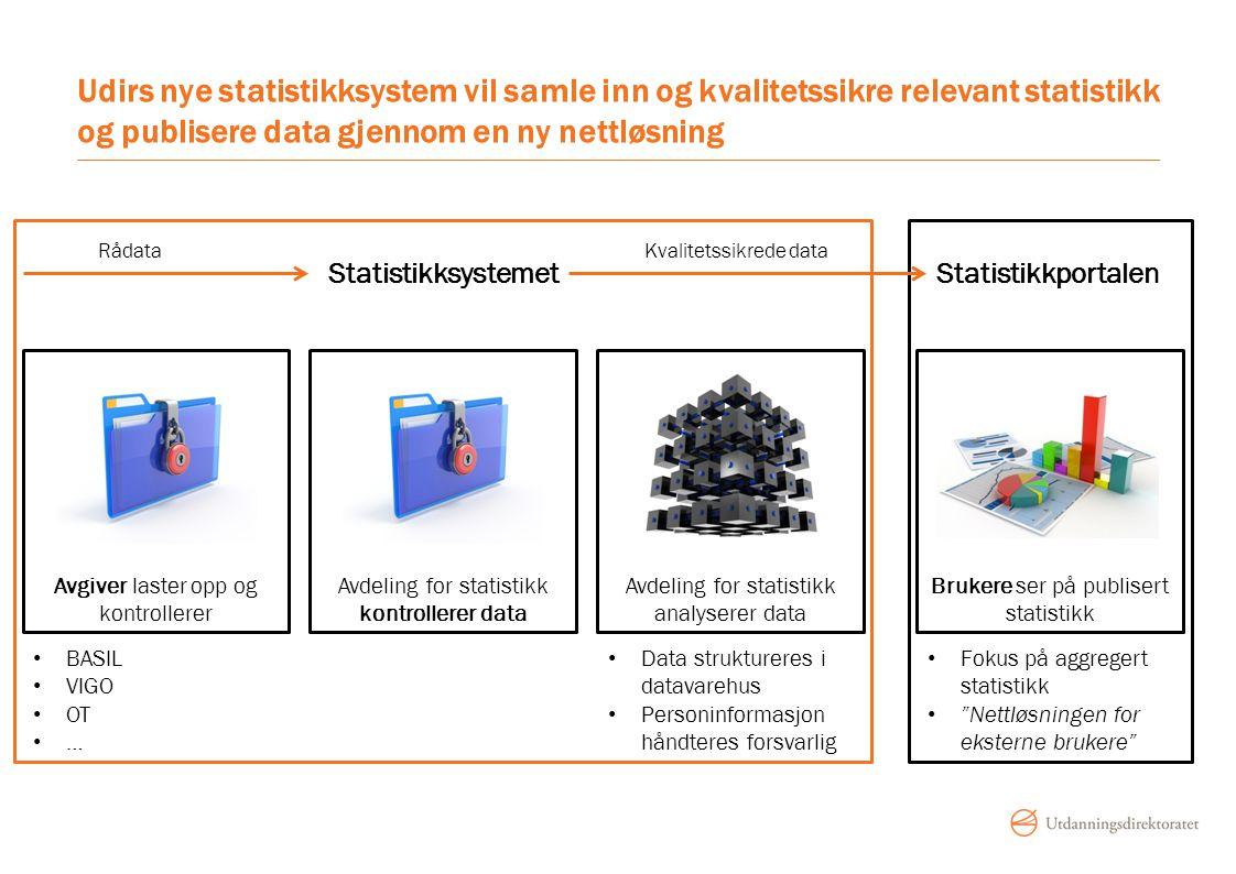 Udirs nye statistikksystem vil samle inn og kvalitetssikre relevant statistikk og publisere data gjennom en ny nettløsning