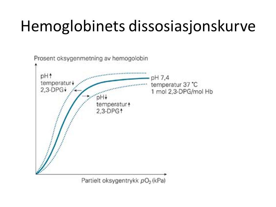 Hemoglobinets dissosiasjonskurve
