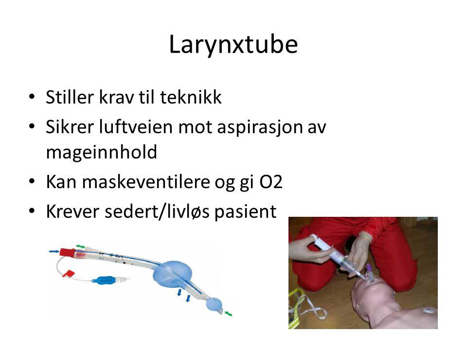 Larynxtube Stiller krav til teknikk