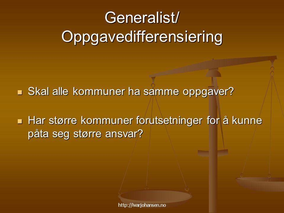 Generalist/ Oppgavedifferensiering