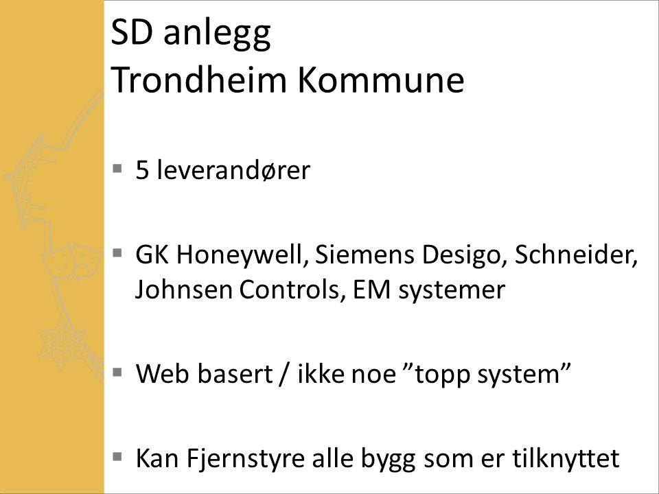 SD anlegg Trondheim Kommune