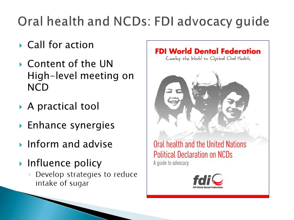 Oral health and NCDs: FDI advocacy guide