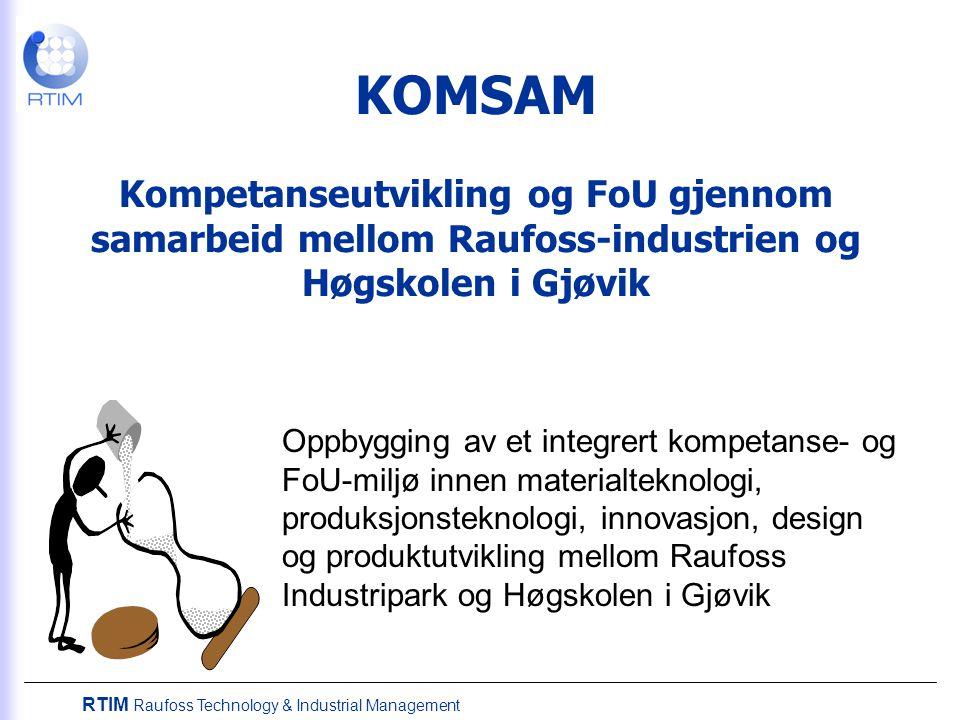 KOMSAM Kompetanseutvikling og FoU gjennom samarbeid mellom Raufoss-industrien og Høgskolen i Gjøvik
