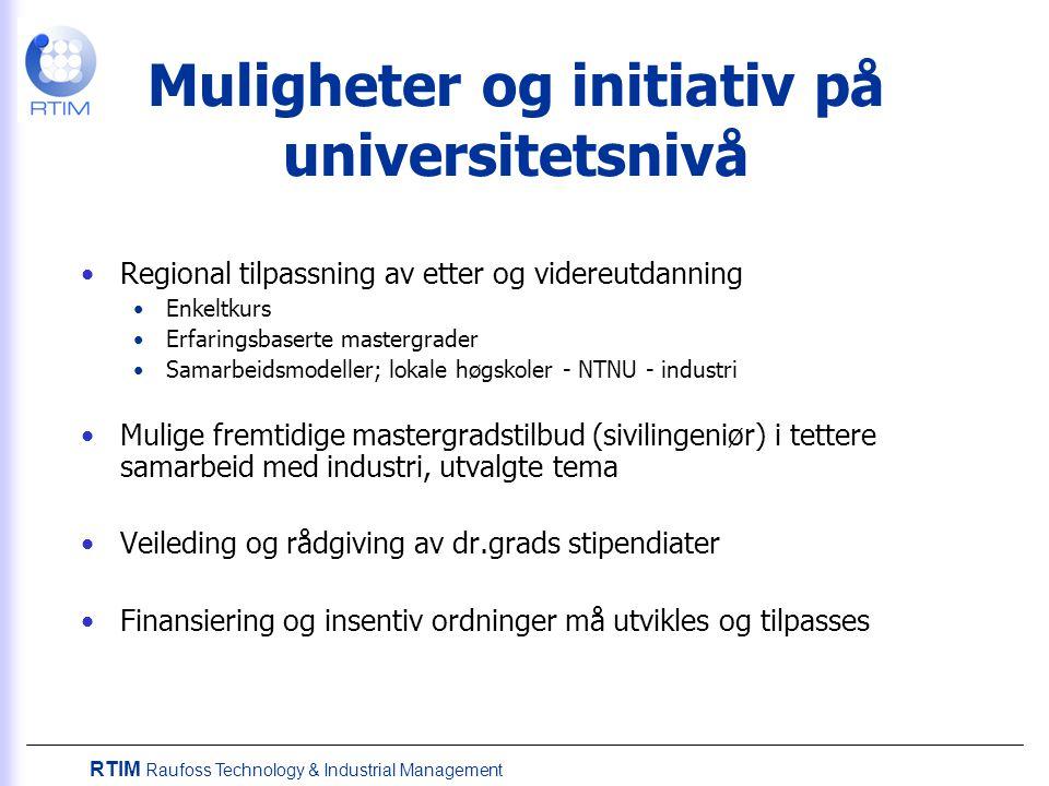 Muligheter og initiativ på universitetsnivå