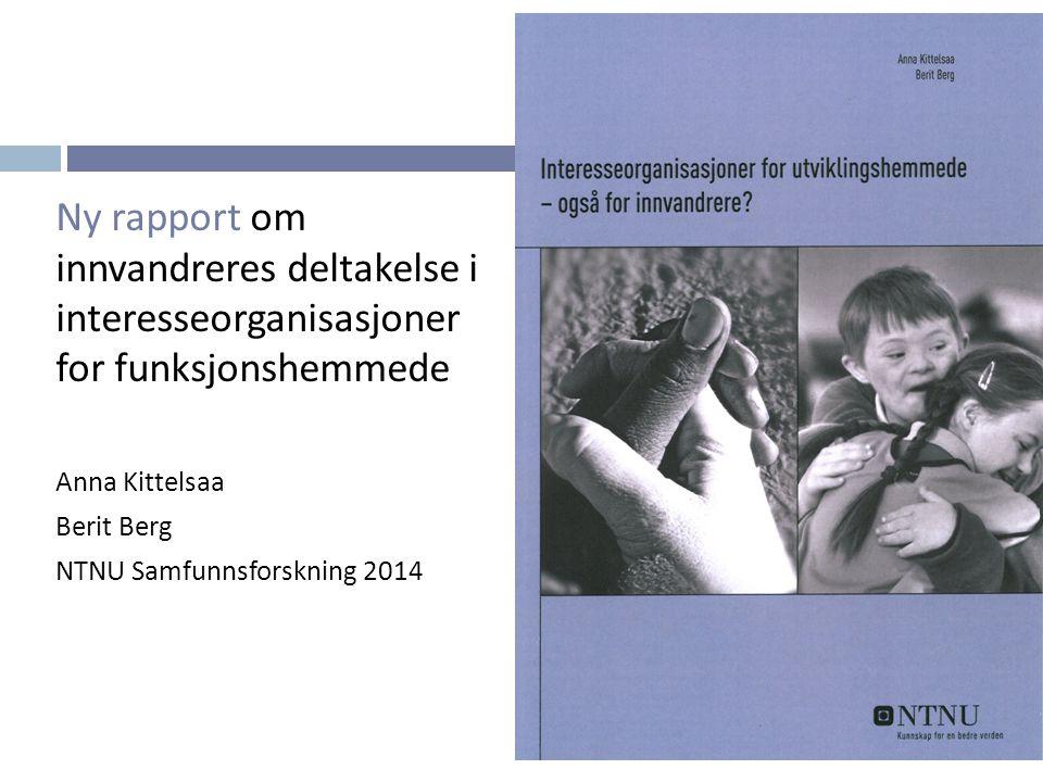 Ny rapport om innvandreres deltakelse i interesseorganisasjoner for funksjonshemmede