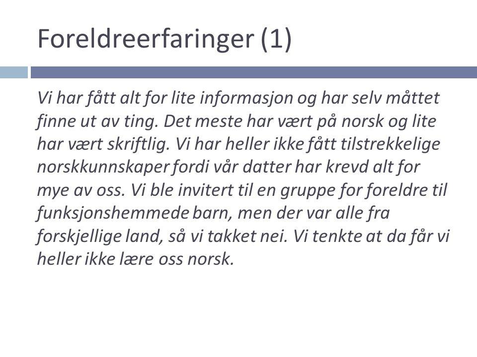 Foreldreerfaringer (1)
