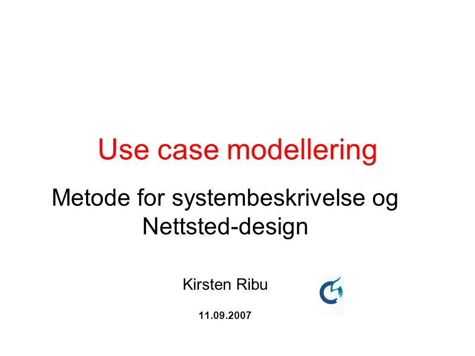 Metode for systembeskrivelse og
