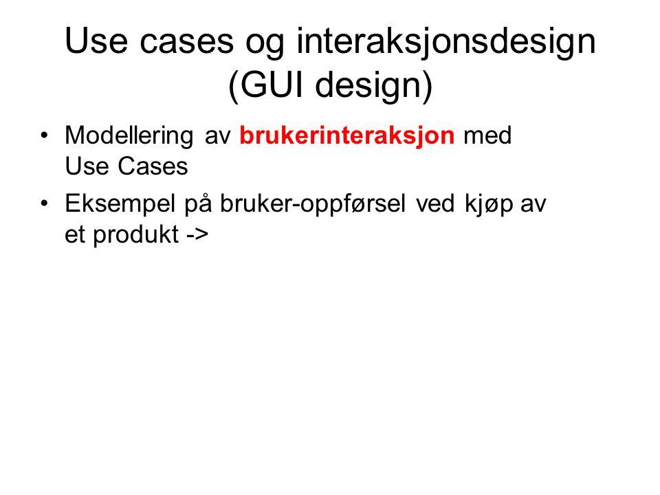 Use cases og interaksjonsdesign (GUI design)