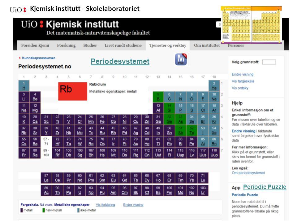 Periodesystemet Periodic Puzzle 04.09.2014
