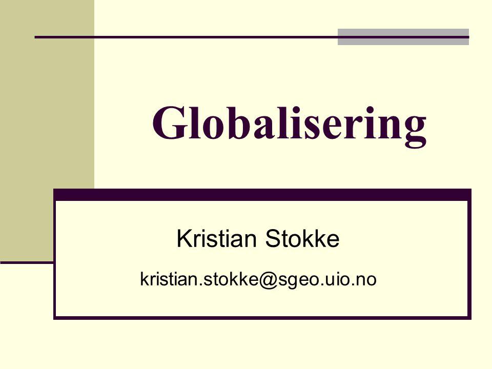 Kristian Stokke kristian.stokke@sgeo.uio.no