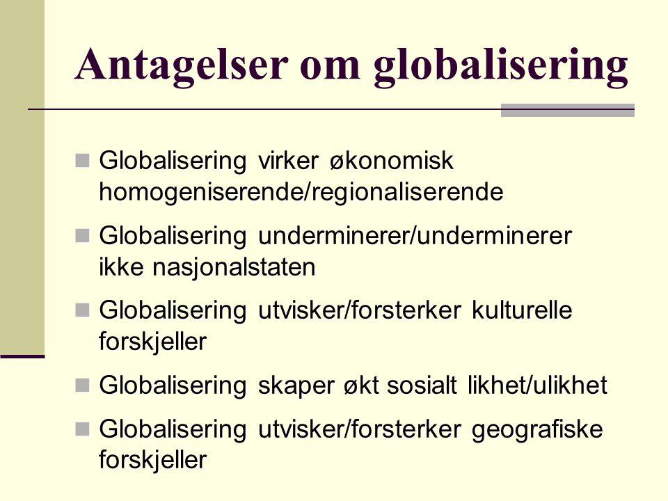 Antagelser om globalisering