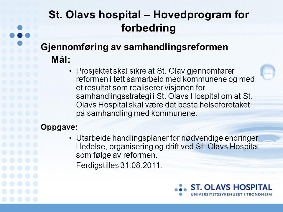 St. Olavs hospital – Hovedprogram for forbedring