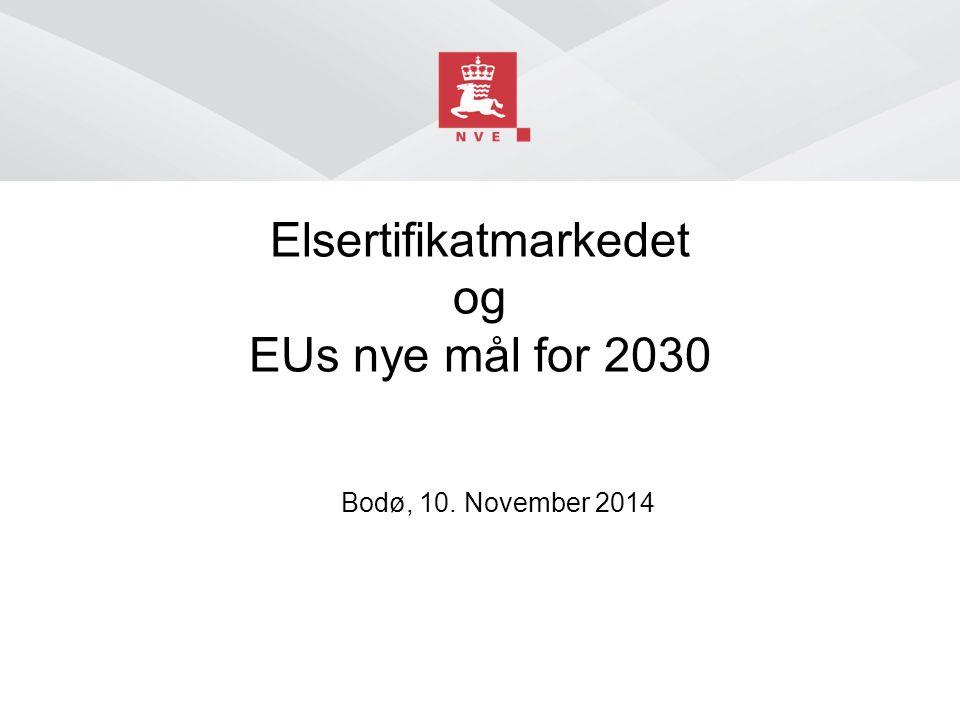 Elsertifikatmarkedet og EUs nye mål for 2030