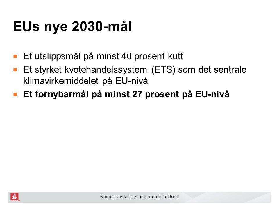 EUs nye 2030-mål Et utslippsmål på minst 40 prosent kutt