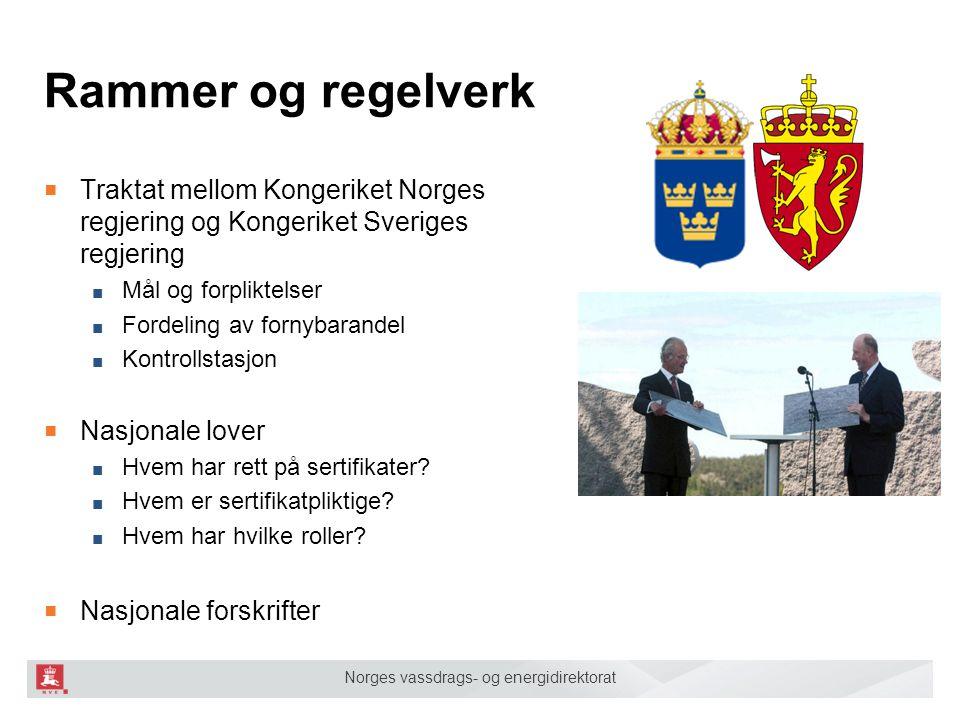Rammer og regelverk Traktat mellom Kongeriket Norges regjering og Kongeriket Sveriges regjering. Mål og forpliktelser.