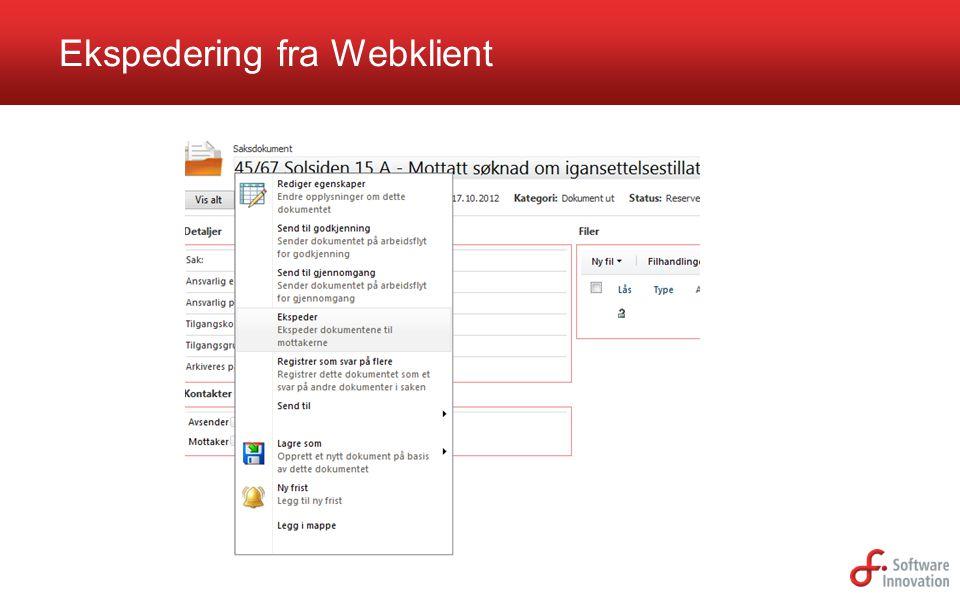 Ekspedering fra Webklient