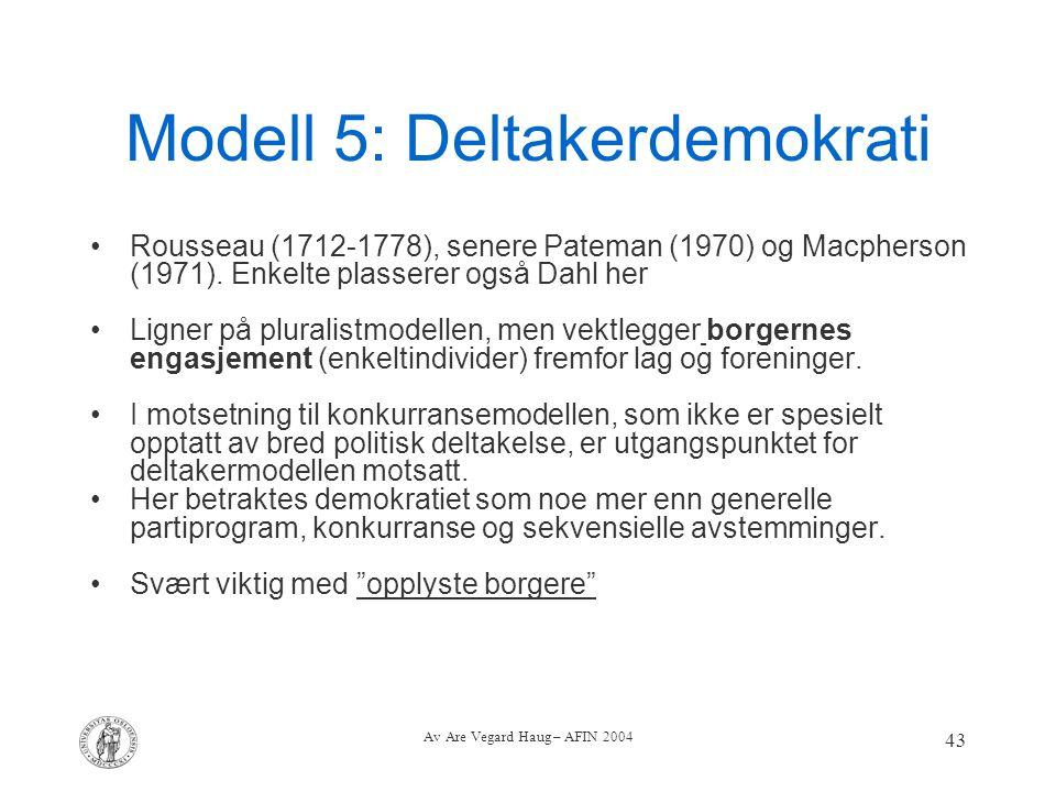 Modell 5: Deltakerdemokrati