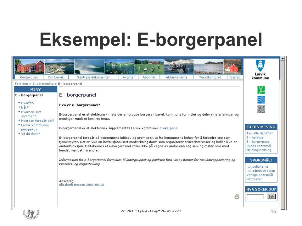 Eksempel: E-borgerpanel