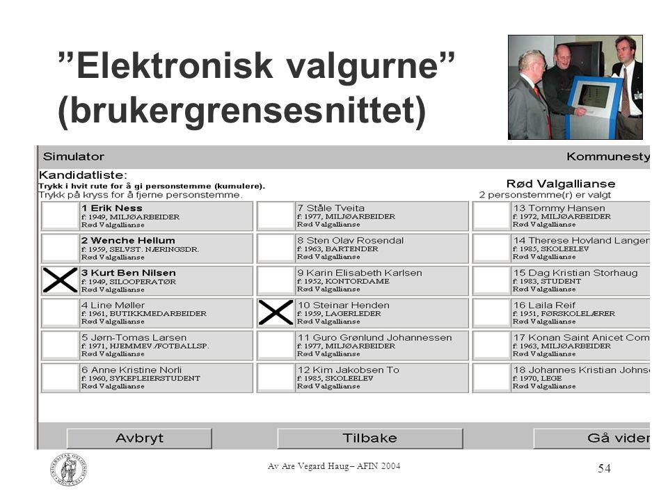 Elektronisk valgurne (brukergrensesnittet)
