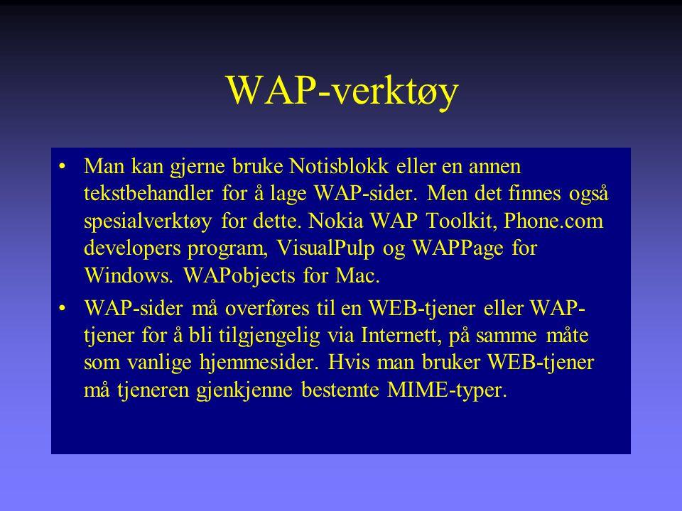 WAP-verktøy