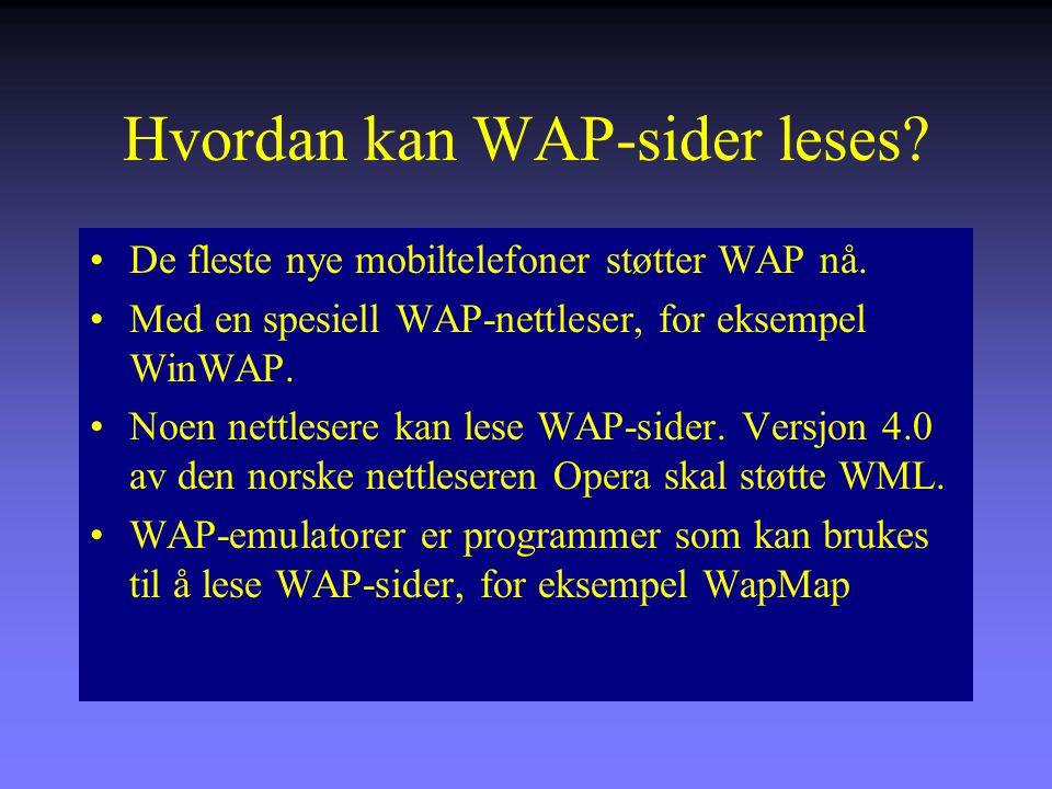 Hvordan kan WAP-sider leses