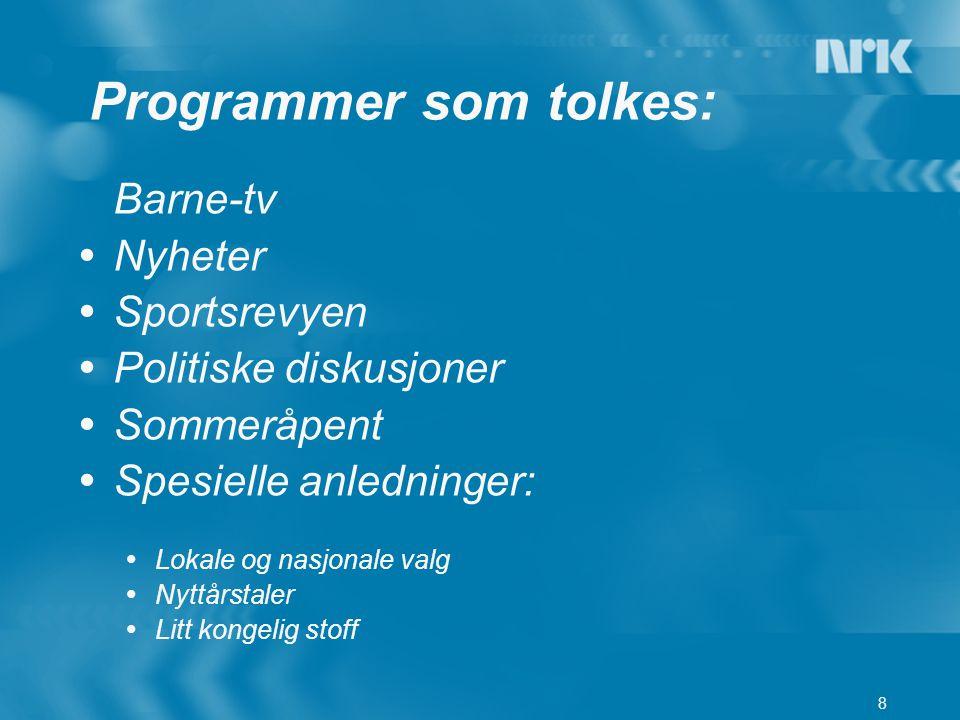 Programmer som tolkes: