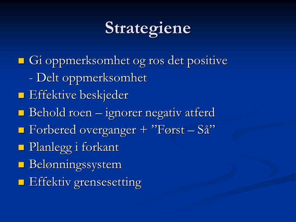 Strategiene Gi oppmerksomhet og ros det positive - Delt oppmerksomhet