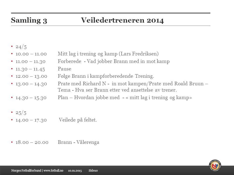 Samling 3 Veiledertreneren 2014
