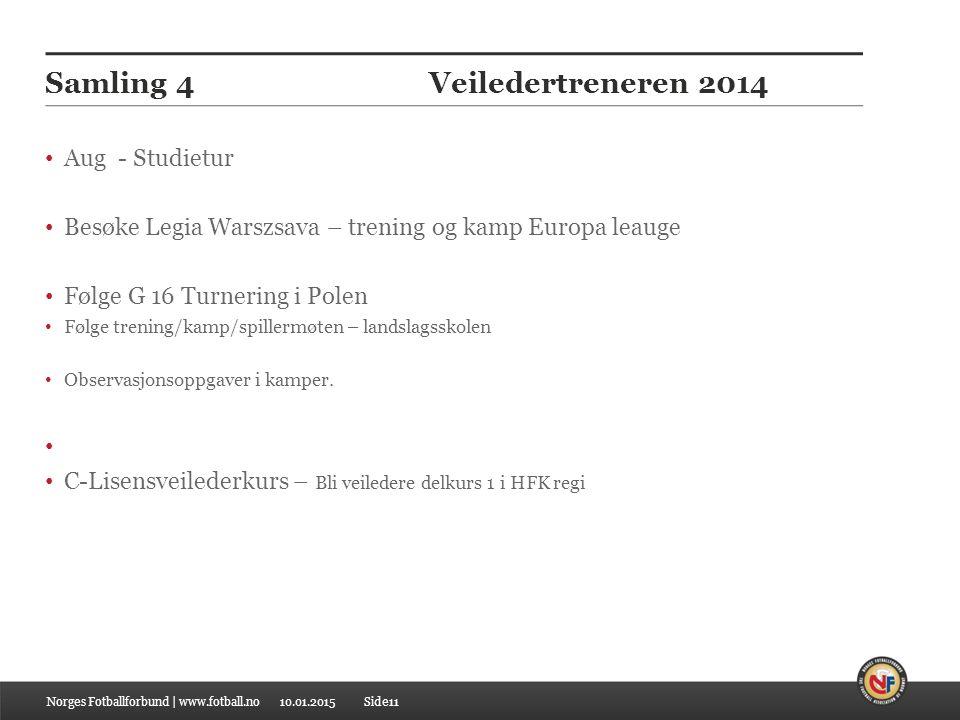 Samling 4 Veiledertreneren 2014