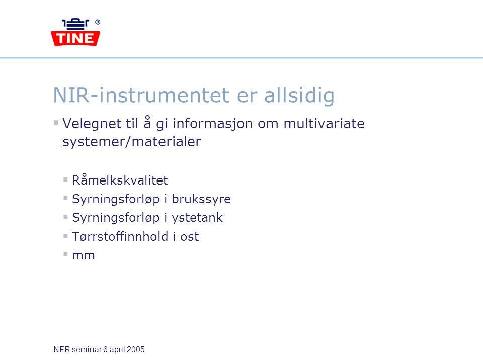 NIR-instrumentet er allsidig