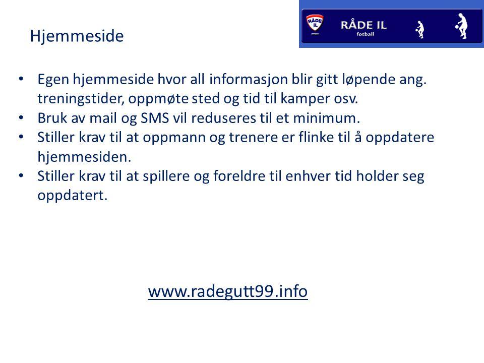 Hjemmeside www.radegutt99.info