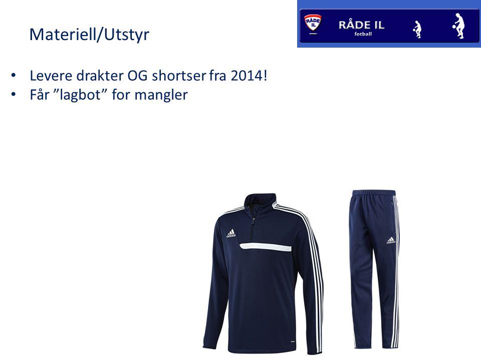 Materiell/Utstyr Levere drakter OG shortser fra 2014!
