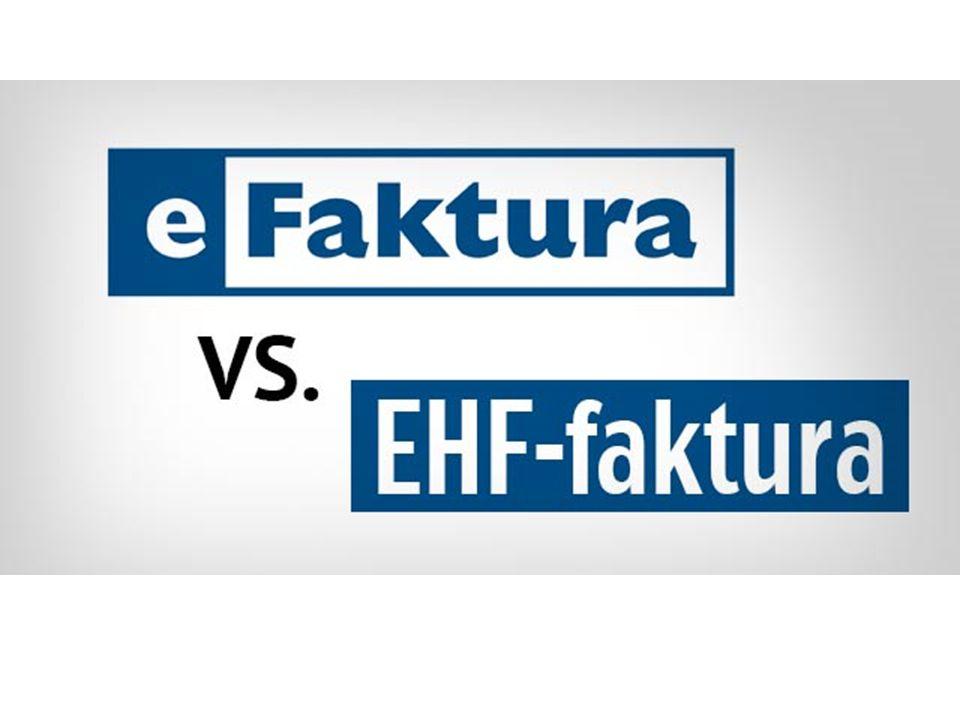 Mens eFaktura havner rett i nettbanken din, er EHF et nyere fakturaformat som sørger for at fakturaen sendes rett inn i mottakerens regnskapssystem