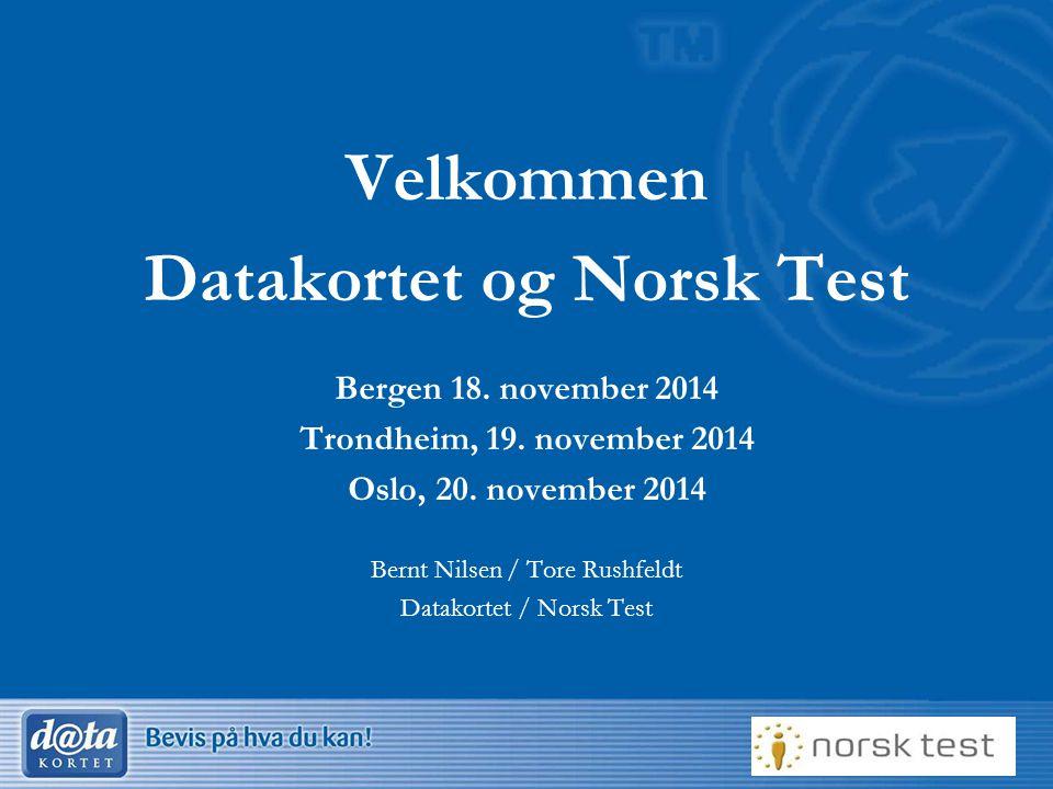 Datakortet og Norsk Test