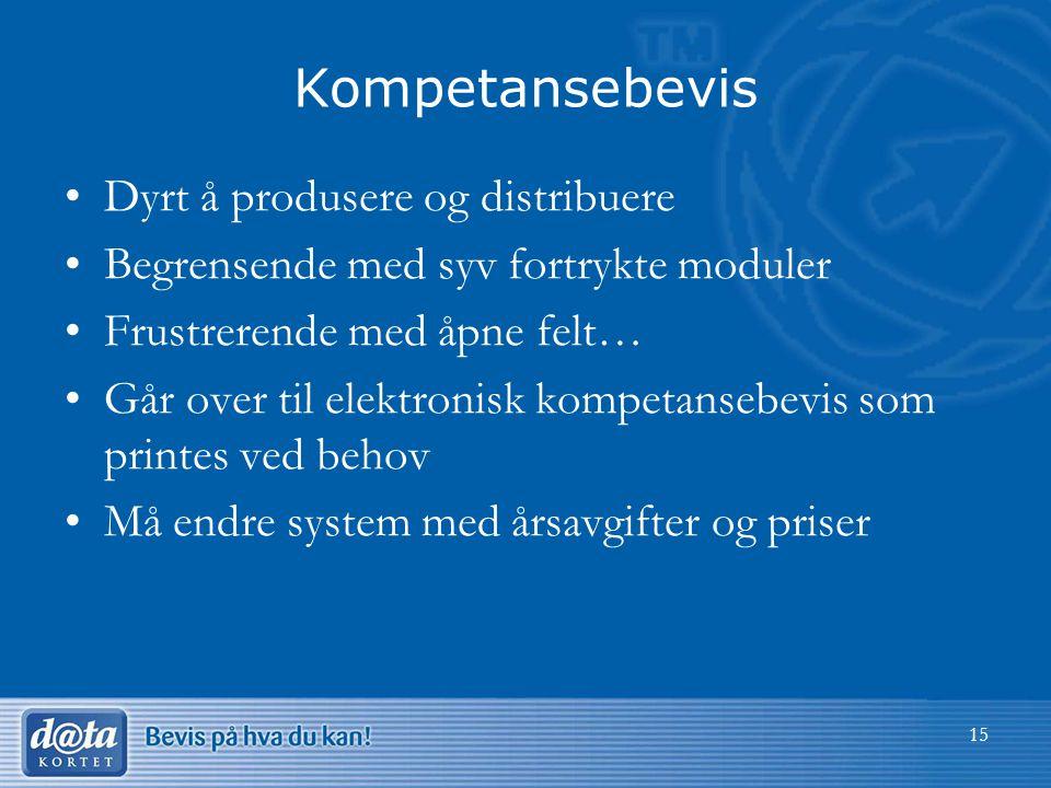 Kompetansebevis Dyrt å produsere og distribuere